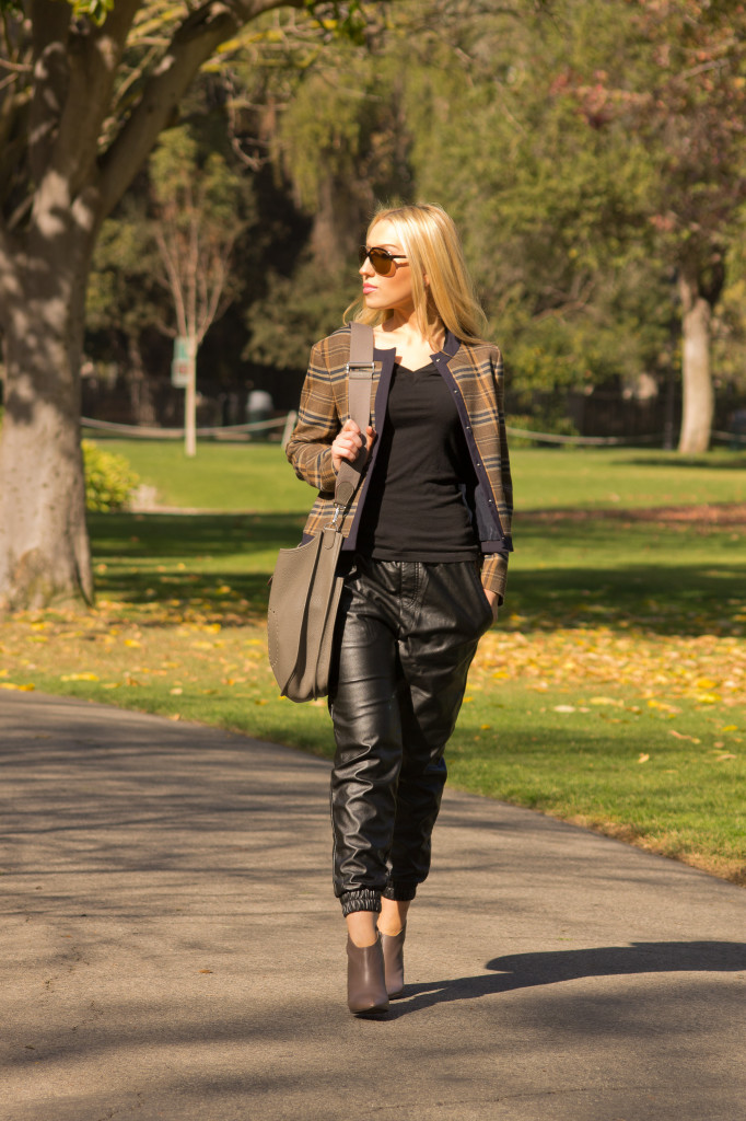 zara jacket,leather jogger pants, urban outfitters pants