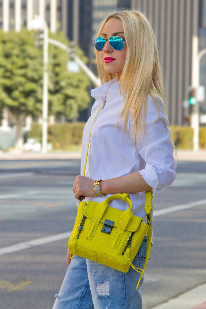 yellow and blue outfit