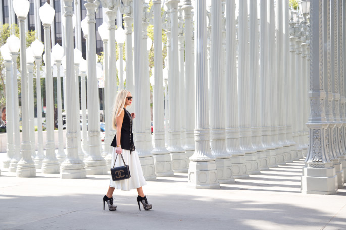 LACMA, Los Angeles County Museum of Art,Asos skirt,how to wear midi skirt