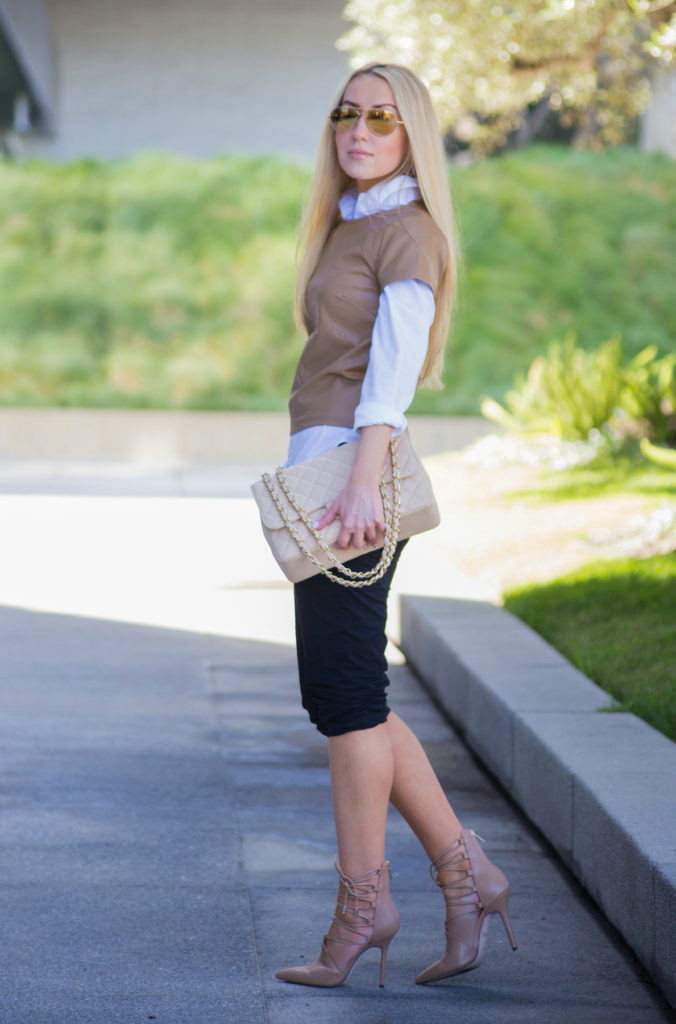 beige outfit,neutral colors outfit,white shirt outfit,work outfit