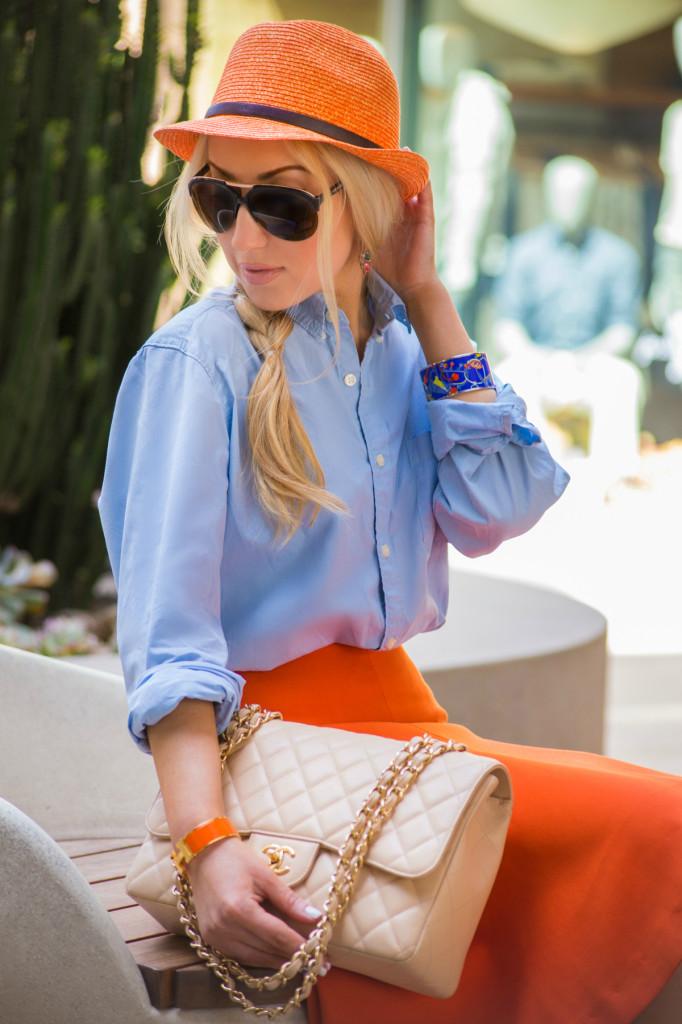 Chanel bag,chanel jumbo,chanel purse,orange hat