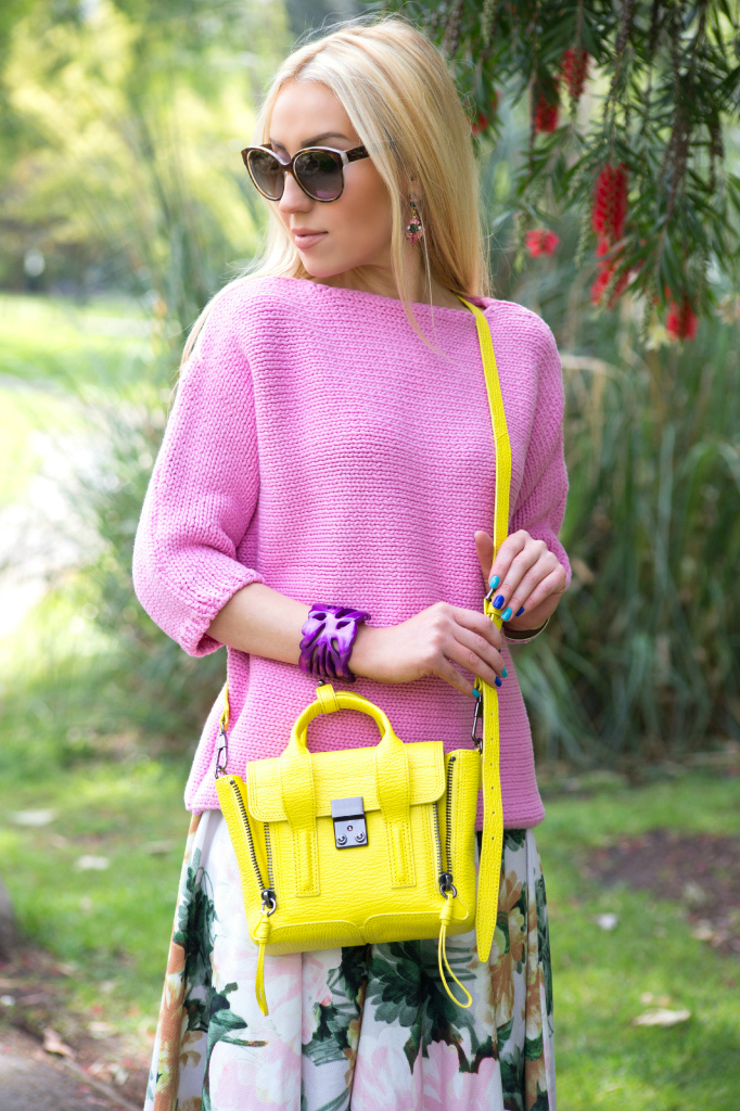 pastel sweater,yellow purse,zara top,zara sweater,cross- body bag