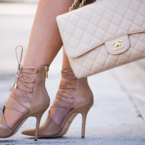 rachel roy shoes,nude pumps,beige pumps,lace pumps,quilted bag