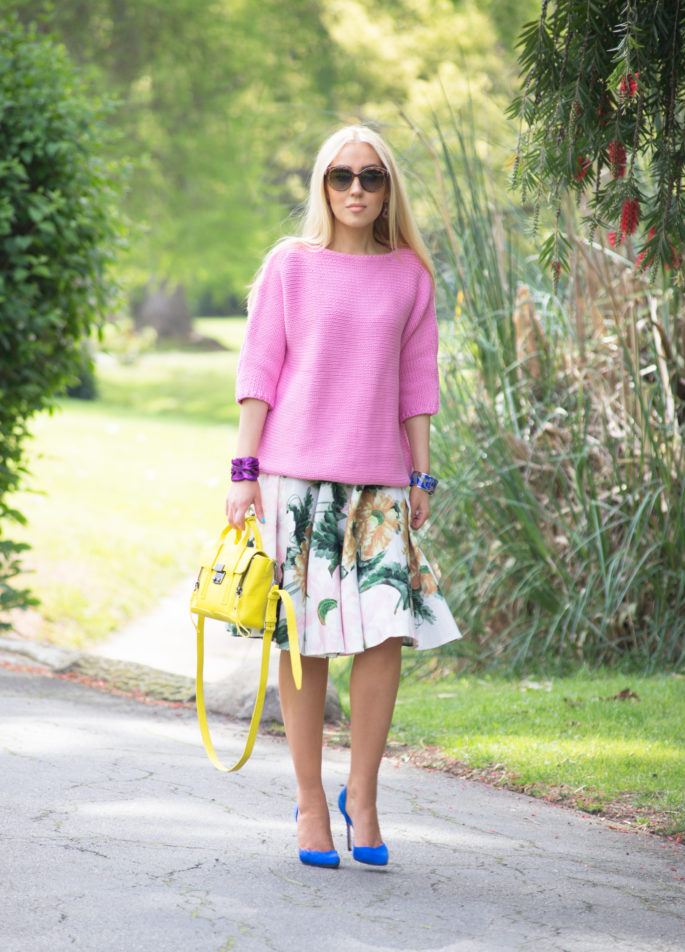 spring outfit,yellow bag,pashli mini,blue pumps
