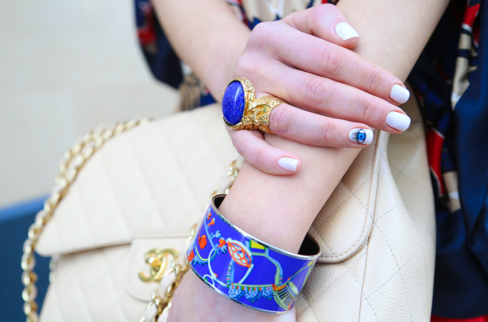 eye nail art,evil eye nails,ysl ring