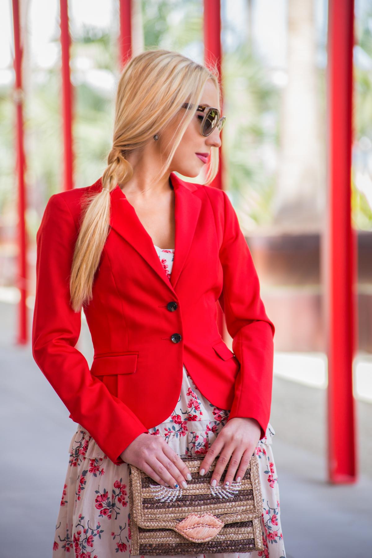 H&M jacket,felix rey kissy face clutch,lips clutch