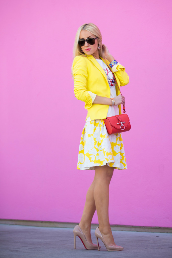 Topshop Floral Skirt,topshop midi skirt,floral skirt,yellow skirt,pastel skirt,pastel outfit,summer outfit ideas 2014