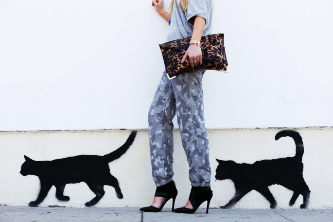 animal print outfit,melrose cat graffiti,purrfect walls