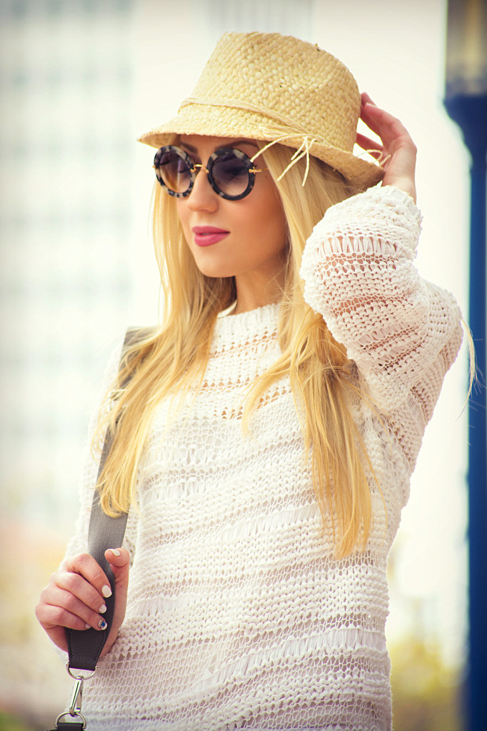 miu miu retro sunglasses,how  to wear summer hat, straw fedora,