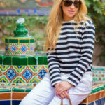 stipes and white outfit,sailing outfit,outfit for the boat,zara top,tom ford aviators