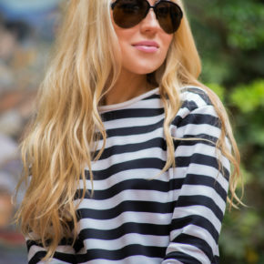 zara t-shirt,zara shirt,striped shirt,striped top,aviator sunglasses