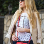 givenchy obsidian red bag,lace top,LA street style,LA blogger,Los Angeles style blogger