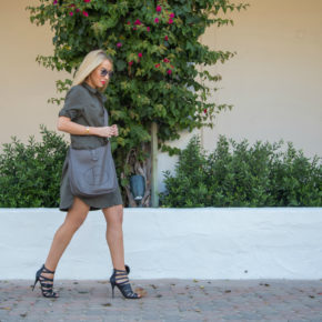 balmain sandals,caged sandals,zara shirt dress, hermes bag,Los Angeles Style blogger,style blogger,LA Street style