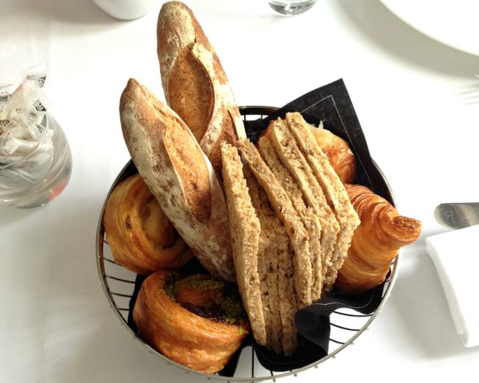 bread basket in Paris,breakfast in paris