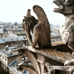 gargoyles,Notre Dame cathedral