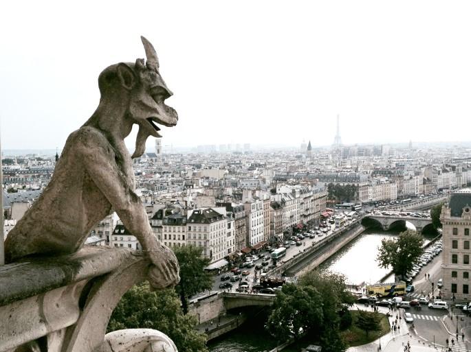 grotesque gargoyles,Notre Dame