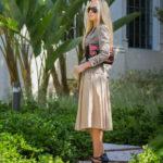 antic batik basra bag,beige midi skirt,how to wear midi skirts