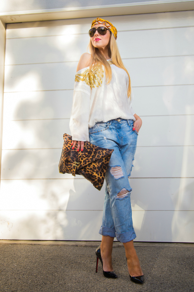 asos leopard print clutch,zara boyfriend jeans,rips and pumps,christian louboutin pumps, pigalle shoes, leopard clutch ,asos clutch