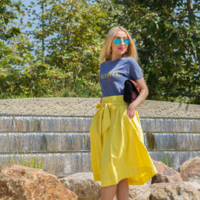 blue and yellow outfit