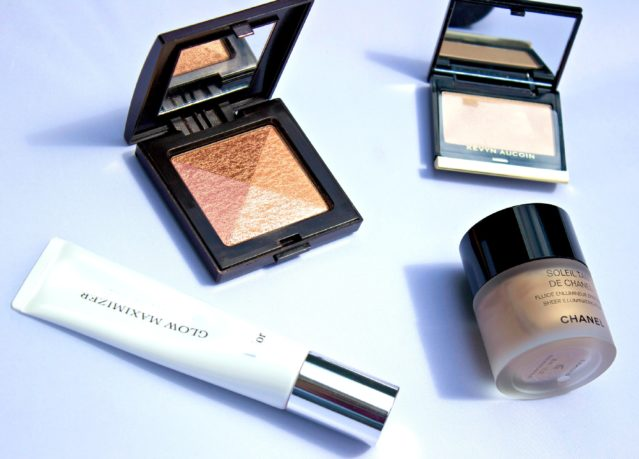 highlighters,shimmer.glow products,the glow,CHANEL SOLEIL TAN DE CHANEL FLUID, Clé de Peau Concealer, Dior Glow Maximiser,Guerlain Terracotta 4 Seasons Powder,Kevin Aucoin,LA Mer Powder,Laura Mercier Shimmer Block,make up 2014,cosmetics