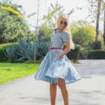 midi baby blue dress