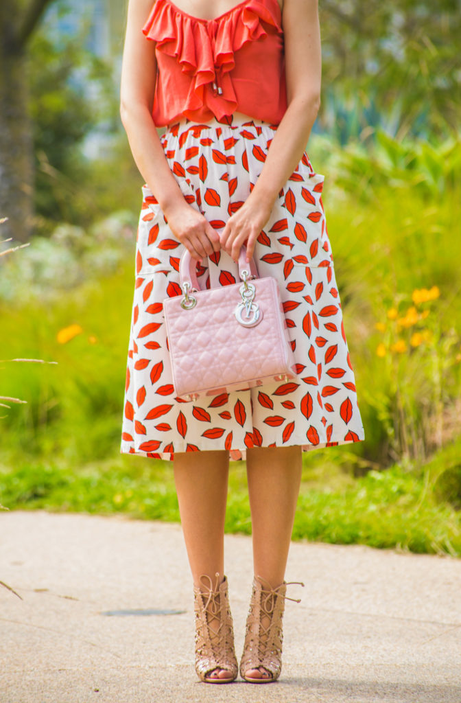 pink lady dior bag,alaia shoes,asos skirt,single camisole