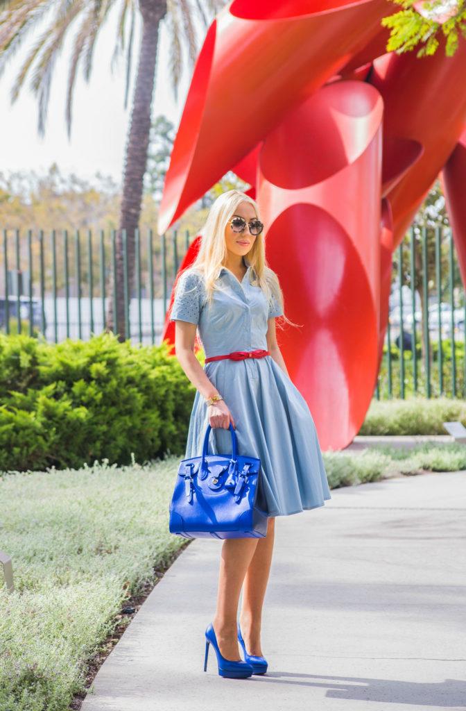 ralph lauren ricky bag,miu miu sunglasses,sonia by sonia rykiel dress,pastel midi dress 2014