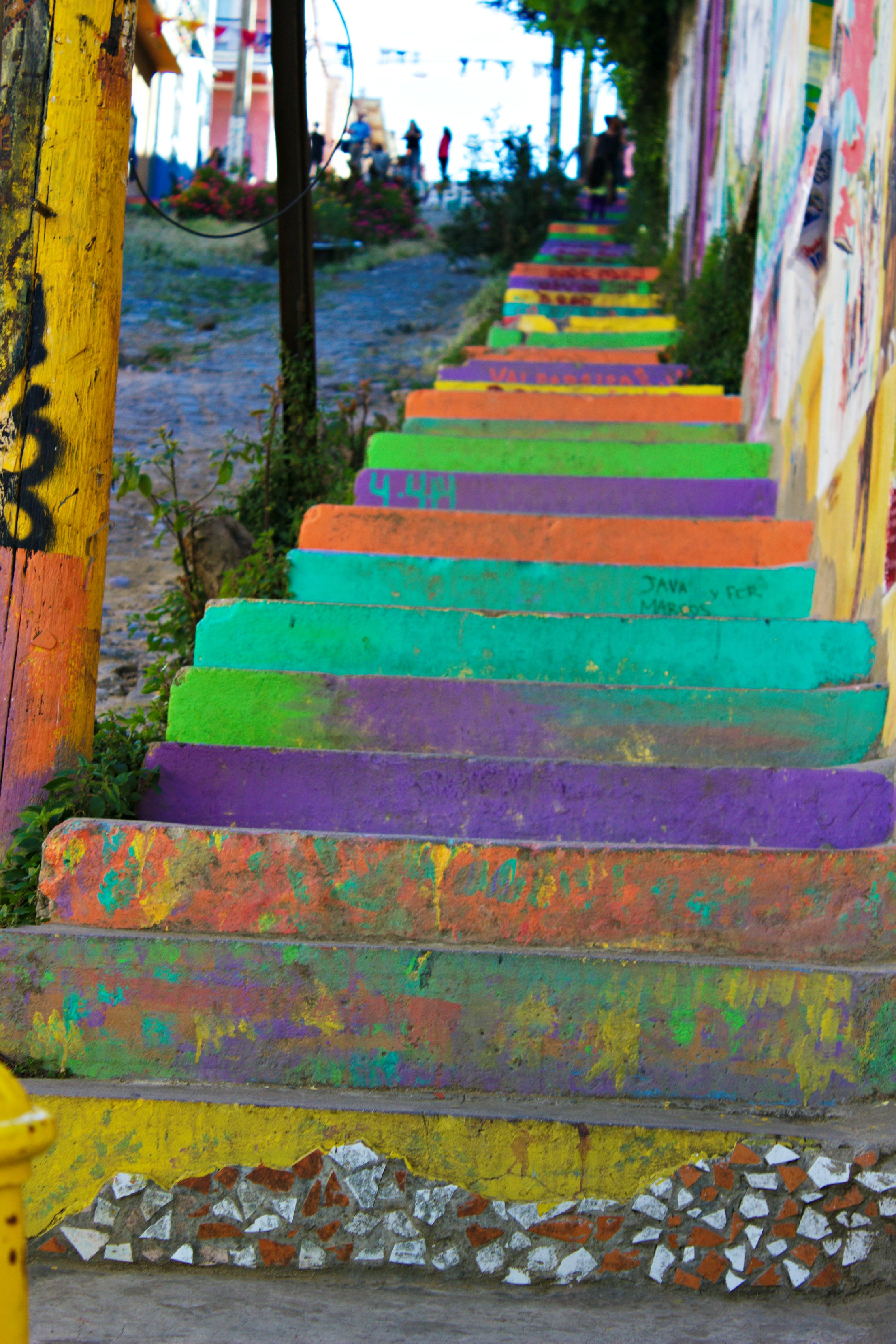 colorful steps valparaiso