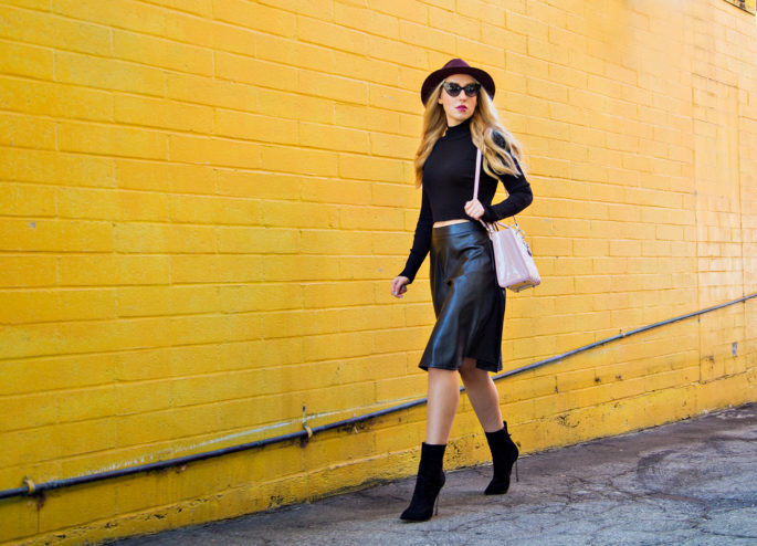 LA Vie du Papillocasadei blade boots,black cropped sweater,rag and bone fedora hat,tom ford nikita cat eye sunglasses,casadei booties,faux leather midi skirt,zara cropped sweater,lady dior bag,casadei boots and lady dior bag