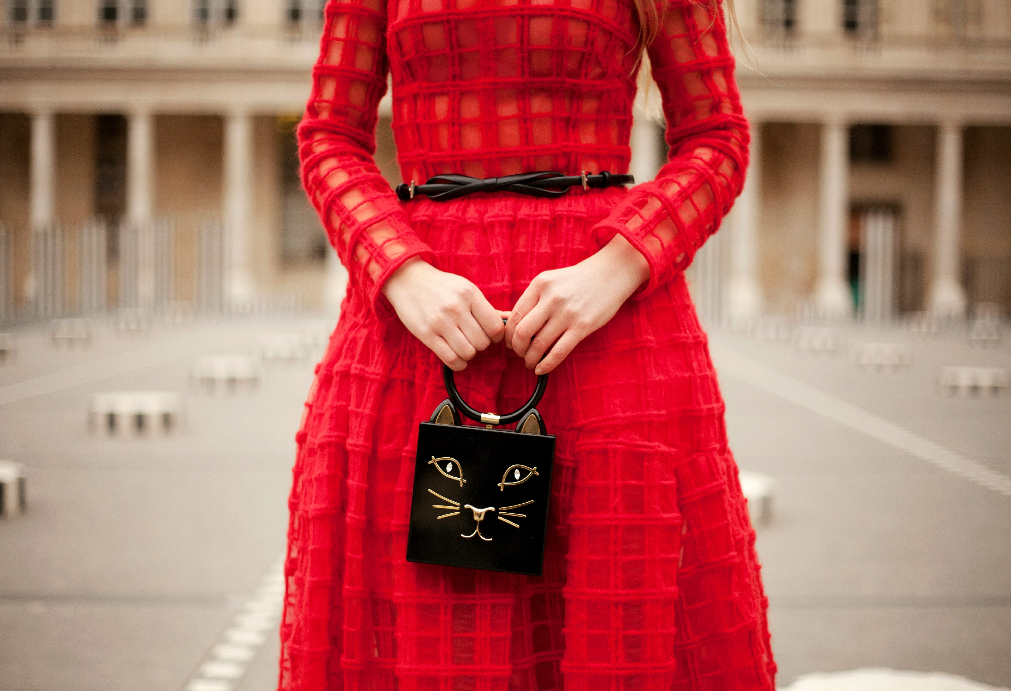 Parisian Winter Tales II,Palais Royal Fashion Shoot,Simone Rocha Dress,Charlotte Olympia Pandora Bag,Charlotte Olympia Kitty Clutch,Simon Rocha Dress,Kitty Clutch,Simone Rocha Tulle Dress,Simone Rocha and Charlotte Olympia,Red Simone Rocha Dress,Palais Royale Fashion Photo shoot,Casadei Boots,Simone Rocha