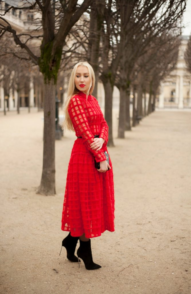 Palais Royal Fashion Shoot,Simone Rocha Dress,Charlotte Olympia Pandora Bag,Charlotte Olympia Kitty Clutch,Simon Rocha Dress,Kitty Clutch,Simone Rocha Tulle Dress,Simone Rocha and Charlotte Olympia,Red Simone Rocha Dress,Palais Royale Fashion Photo shoot,Casadei Boots,Simone Rocha
