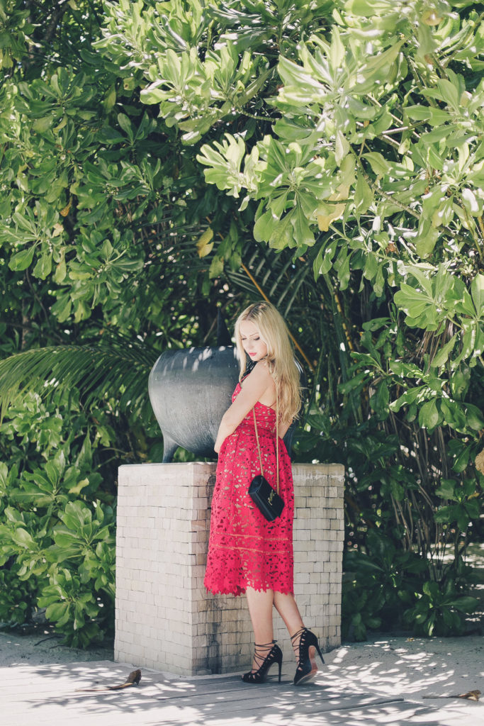 Saint Laurent Bag,Self Portrait dress,Azalea red dress self portrait,self portrait red dress,self portrait,Red and Black Outfit,self portrait azalea,self portrait red lace dress,Nate Black Diana Broussard,Red Dress,Maldives Fashion shoot,Red  lace details,Black and red outfit idea,azalea dress self portrait,Maldives Vacation,Maldives photo shoot,Nate Diana Broussard,self portrait dress azalea,self portrait azalea dress,Diana Broussard Necklace,Alaia Lace sandals,Diana Broussard Black Nate,Diana Broussard Nate Necklace,Alaia Sandals