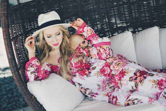 Maldives, Maldives Photoshoot, Maldives Fashion Shoot,floral maxi,alaia bag,alaia vienna bag, bottega veneta sandals,panama hat,what to wear on vacation,vacation style,summer 2015,  into the bloom