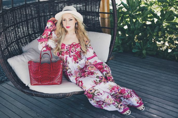 Maldives, Maldives Photoshoot, Maldives Fashion Shoot,floral maxi,alaia bag,alaia vienna bag, bottega veneta sandals,panama hat,what to wear on vacation,vacation style,summer 2015 ,into the bloom
