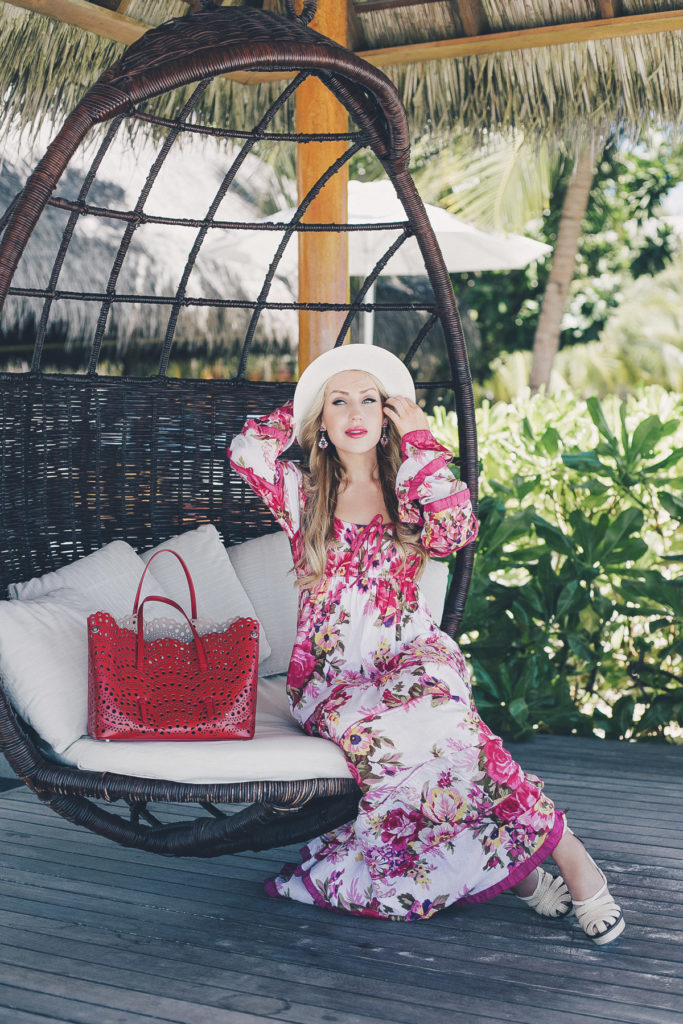 Maldives, Maldives Photoshoot, Maldives Fashion Shoot,floral maxi,alaia bag,alaia vienna bag, bottega veneta sandals,panama hat,what to wear on vacation,vacation style,summer 2015 ,Maldives fashion blogger