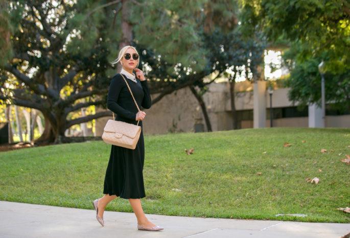 Vivetta hands collar,Valentino rockstud flats, Vivetta Collar with chanel jumbo,vivetta collar,Valentino Rockstud,Black dress outfit,Jumbo chanel,Beige Chanel Jumbo,Vivetta lace collar