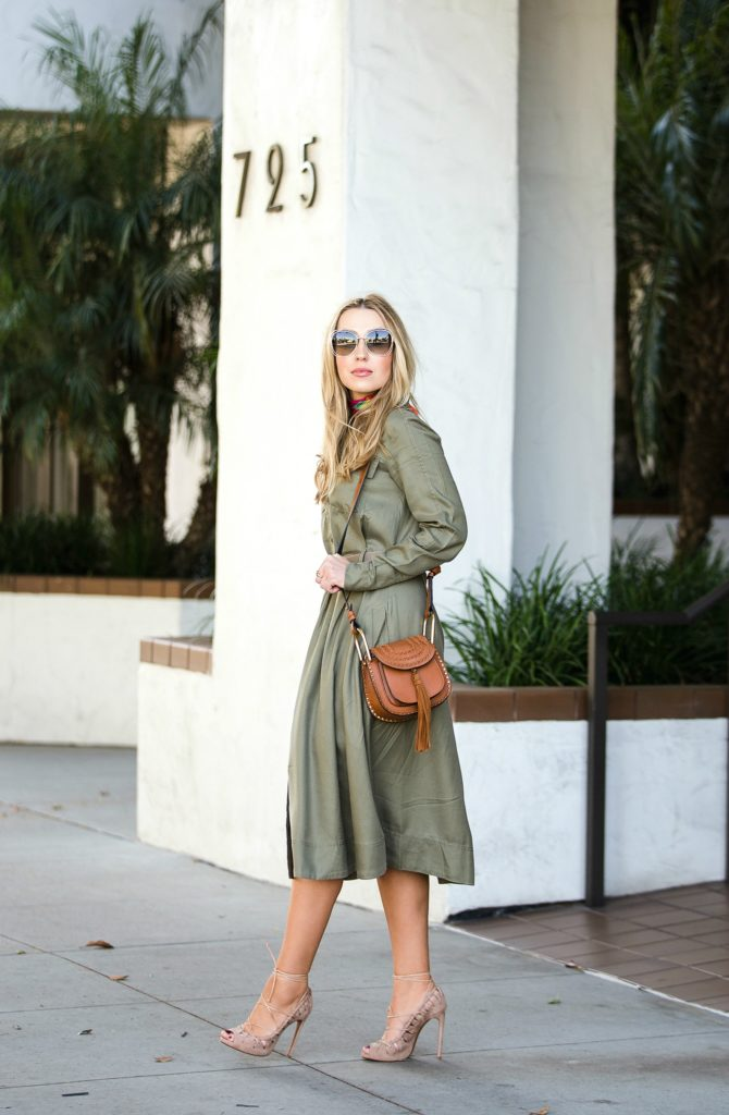 shirtdress,alaia lace up sandals,how to wear earth tones,chloe hudson tan bag,beige alaia sandals,chloe hudson,hermes belt kit,Chloe carlina sunglasses,chloe sunglasses,banana republic shirtdress,how to wear hermes scarf,alaia scrappy sandals,how to wear neutral tones,alaia scrappy heels,how to style neutral tones