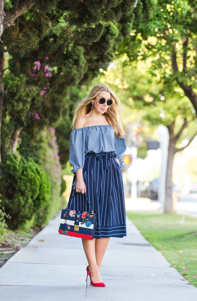 Gucci SS'16 bag,Gucci SS'16 bag cat lock bag,zara off the shoulder top how to wear off the shoulder trend,aquazzura pumps,banana republic skirt,,gucci embroidered bag,gucci lock bag,aquazzura forever marilyn,the row sunglasses