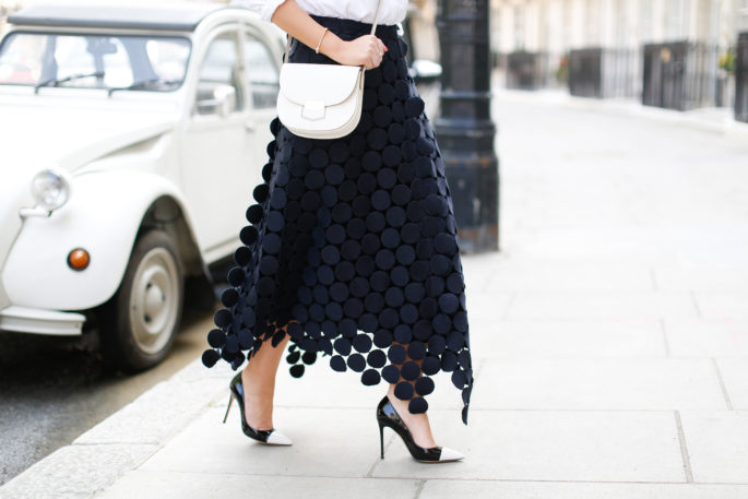 Gianvito Rossi Pumps,Monochrome outfit,Marni macrame skirt,Marni midi dot skirt,Celine Trotteur bag,Celine cat sunglasses,Celine bag,Miansai bracelet,How to style white shirt,Marni Runway Skirt In Dots Macramé,Marni Dot Macramé skirt,Marni Skirt In Dot Macramé,Marni dot skirt,Marni midi skirt,Marni skirt in black
