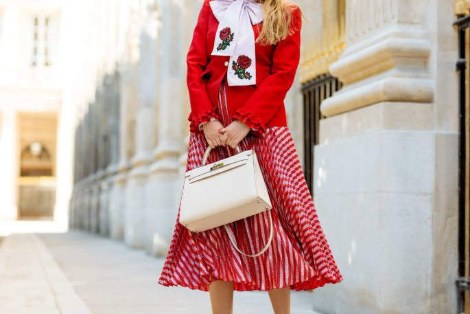 gucci-pussy-bow-shirt,gucci-pleated-printed-lame-skirt,gucci lurex-stripes-plisse-skirt,gucci-look-paris,gucci-skirt,gucci-look,gucci-floral-bow-shirt,hermes-kelly-craie,gucci-street-style,gucci-metalic-pleated-skirt,gucci-pleated-skirt,gucci-and-hermes-kelly-bag,single-breasted-wool-silk-jacket,gucci-pearl-button-jacket,gucci-oxford-scarf-shirt,preppy chic