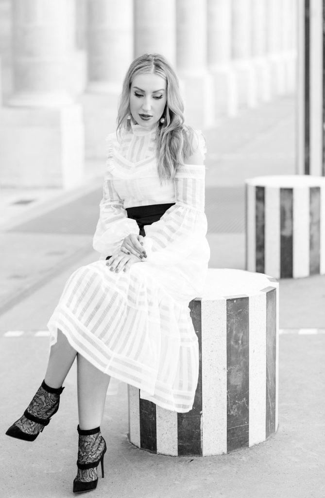 salvatore-ferragamo-earrings,palais-royal-photo-shoot,erdem-alexis,erdem-cold-shoulder-dress,erdem-dress,white-dress-with-lace-boots,palais-royal-fashion-photo-shoot,erdem-white-dress,christian-louboutin-boots,erdem-alexis-dress,palais-royal,christian-louboutin Boteroboot lace-boots