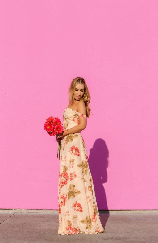 reformation-floral-off-the-shoulder-dress,la-pink-wall,reformation-dressfloral-maxi,pastel-floral-maxi-dress,floral-maxi-dress,maxi-dress,oscar-de-la-rent-tulip-earrings,pink-wall,maxi-off-the-shoulder-dress,reformation,reformation-floral-dress,sun-kissed