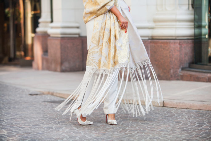 delpozo-gold-painted-shawl,delpozo-gold-shawl,chanel-bag,delpozo-jacquard-shawl,delpozo-gold-painted-gathered-shawl,chanel-gold-bag,christian-louboutin-pumps,marni-gold-earrings,chanel-paris-moscow-bag,delpozo-tassels,christian-louboutin-baretta,delpozo-shawl,delpozo-gold-jacket,miansai bracelet