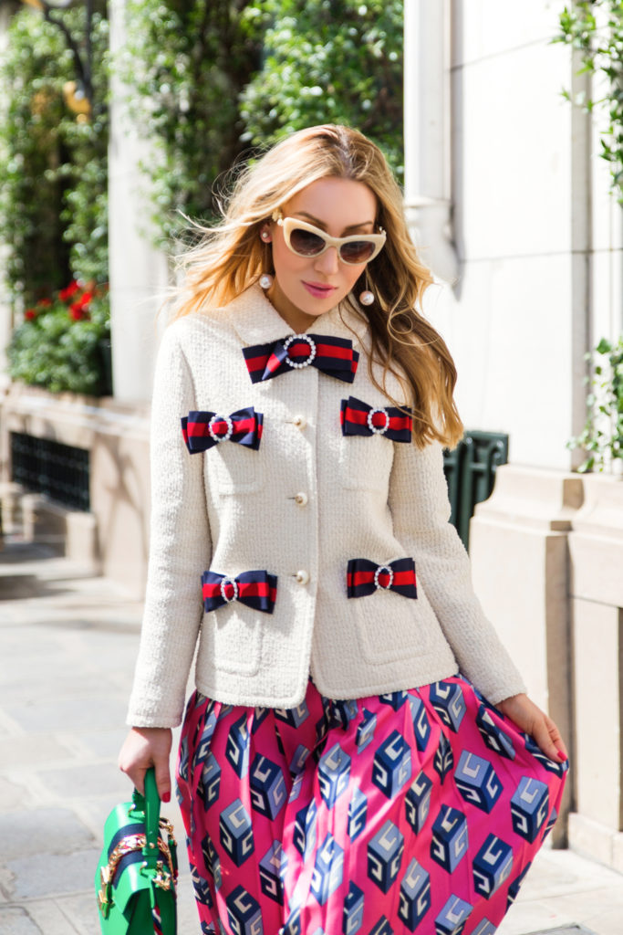 Gucci 2017,Gucci GG vintage web tweed jacket,Gucci vintage web tweed jacket,Gucci Jacket,Gucci Luna Satin pearl studded pump,gucci tweed jacket,Gucci GG Wallpaper print silk skirt,Gucci Wallpaper-print pleated silk midi skirt,GUCCI 2017 WEB BOW DETAILS LIGHT TWEED JACKET,Gucci Pearl detail shoes,GUCCI BOW DETAILS LIGHT TWEED JACKet,Paris Bristol Hotel,Gucci Sylvie mini bag,Gucci GG Wallpaper-print pleated silk midi skirt