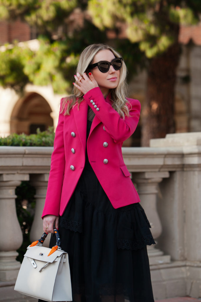How to wear red jacket,Simone Rocha tulle dress,Balmain blazer in red,Balmain red blazer,How to wear red blazer,How to wear Balmain jacket,Balmain blazer,Simone rocha dress,Balenciaga floral knife boots,Balmain red jacket,Simone Rocha flared dress,Balenciaga knife boots,how to wear floral boots,balenciaga spandex floral knife boots,Balenciaga floral spandex boots,Balmain jacket,how to wear Balmain blazer, cherry pop