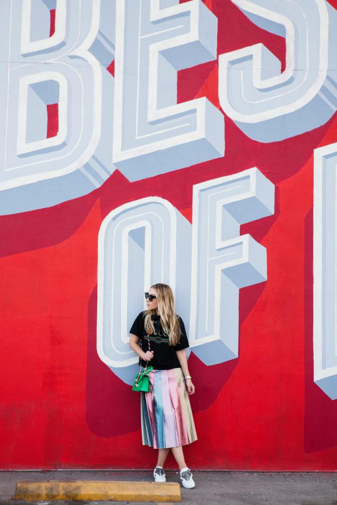 50f388883 BEST OF LA MURAL,Gucci street style 2017,Gucci Pleated lamé midi skirt, ...